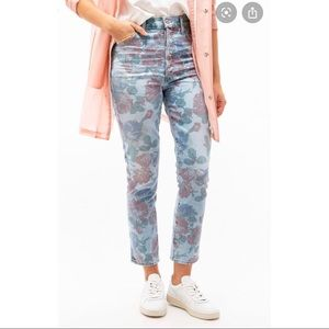 $270 Citizens of humanity olivia floral jeans 25